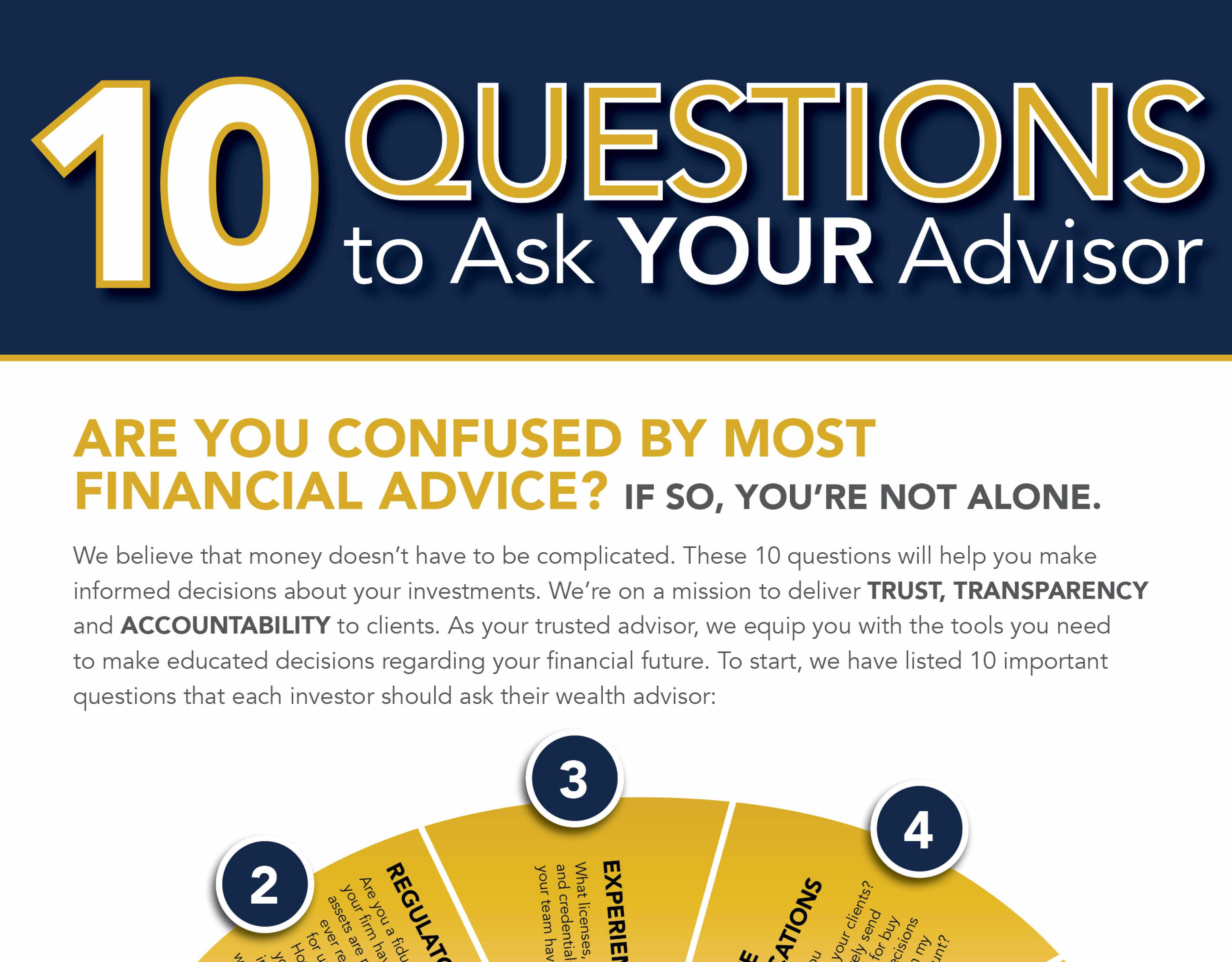 10 Questions to Ask Your Advisor Infographic